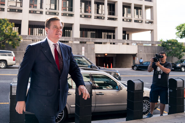 Paul Manafort, President Trump's former campaign chairman at federal court in Washington in 2018.