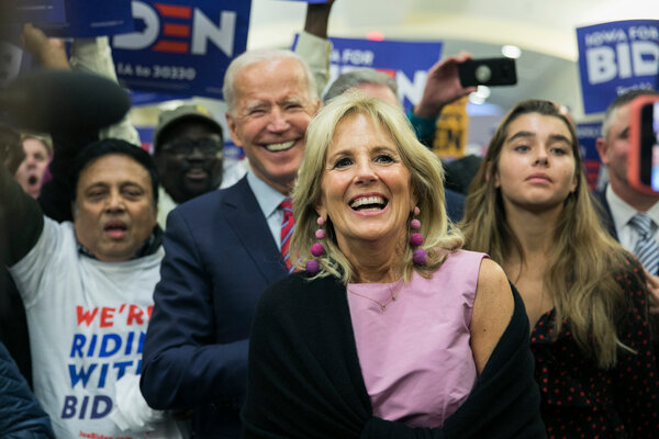 Dr. Jill Biden is expected to speak live from Brandywine High School in Wilmington, Del.