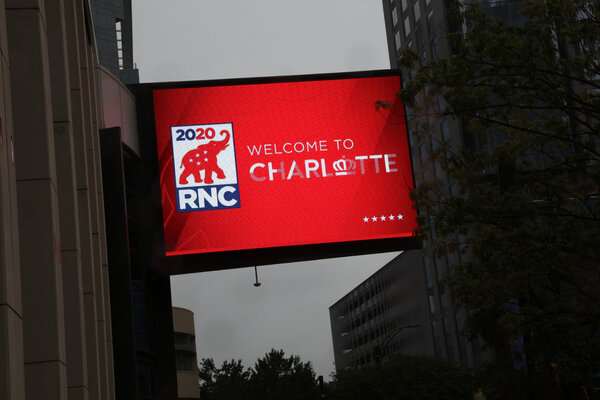 Republican delegates were arriving on Friday for their scaled-back convention in Charlotte, N.C.
