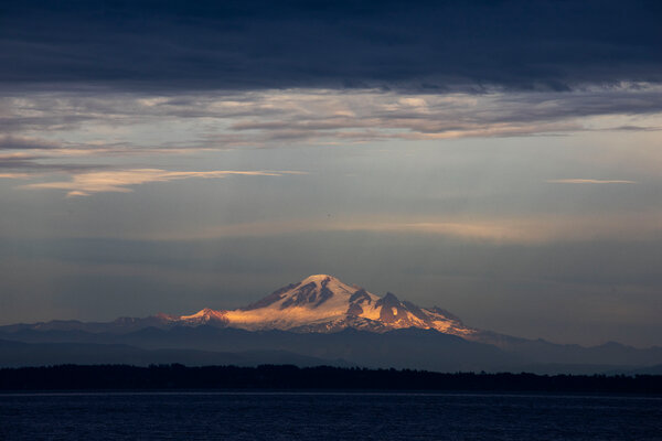 Mt. Baker is visible across the Strait of Georgia, to the east of Point Roberts.  'I Am Stuck Until That Border Opens': Marooned in Paradise 30virus pointroberts 10 articleLarge