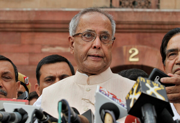 Pranab Mukherjee in 2012. He filled many governmental roles in India, but the top job of prime minister eluded him.