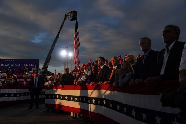 A rally for President Trump in Latrobe, Pa., last week. Mr. Trump's campaign has spent $800 million.