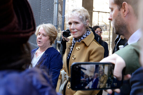 E. Jean Carroll, a writer who has accused President Trump of raping her, sued him last November, claiming that he lied by publicly denying he had ever met her.