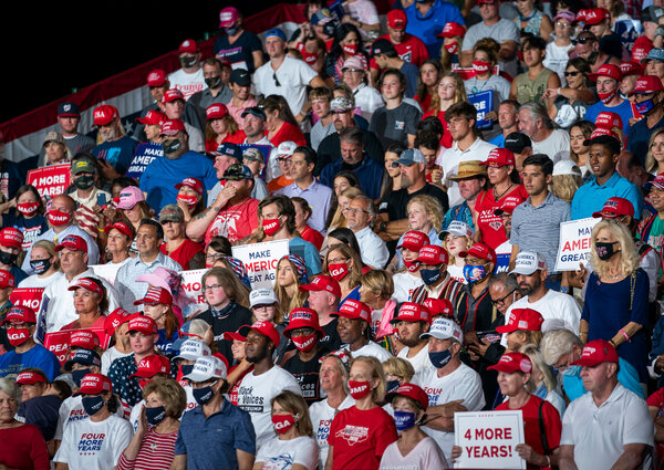 Supporters, many in attire the campaign would approve of, looked on at a Trump rally this week in North Carolina.
