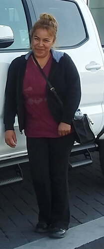 Alicia Flores Gonzalez is seen in a family photo with her new truck before her arrest and deportation.