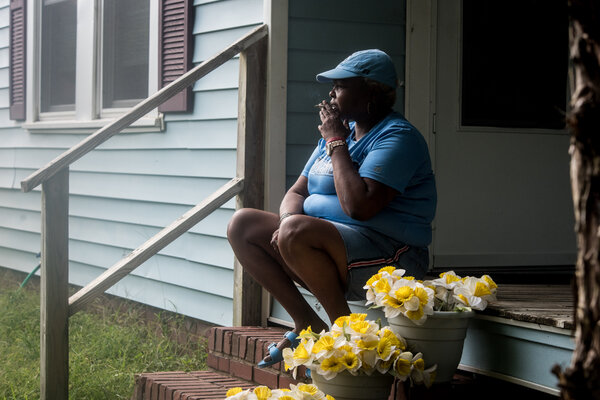 Marilyn Hoffman lost her jobas an aide at a group home for mentally disabled adults and is now facing eviction from her home in Sanford, N.C.