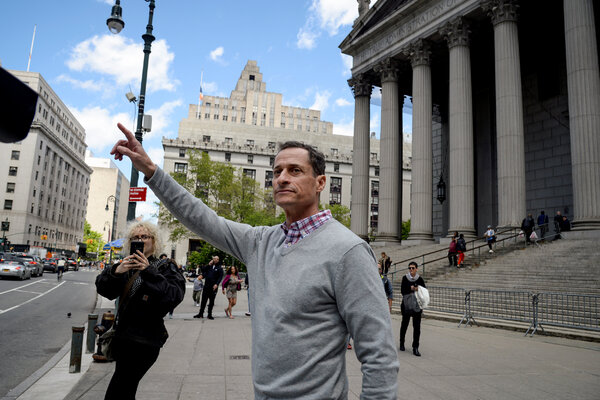 The former representative and New York City mayoral candidate Anthony Weiner, seen here in Manhattan last year, has a new job.  Election Updates: Fires and Coronavirus Shadow Trump on Campaign Trail merlin 154886682 c2b0df3f e159 4912 a81e 72360c5e32d9 articleLarge