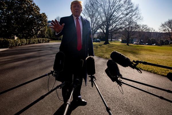 President Trump in Washington in February, when the coronavirus threat was looming.