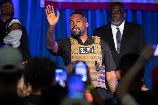 Kanye West has made a single campaign appearance, speaking in North Charleston, S.C., in July.