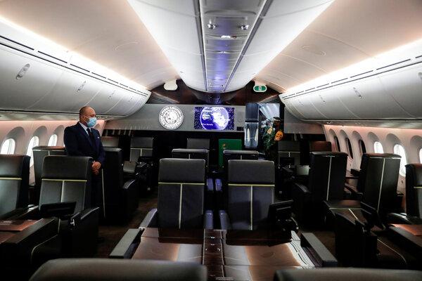 El avión presidencial es un Boeing 787-8 Dreamliner.