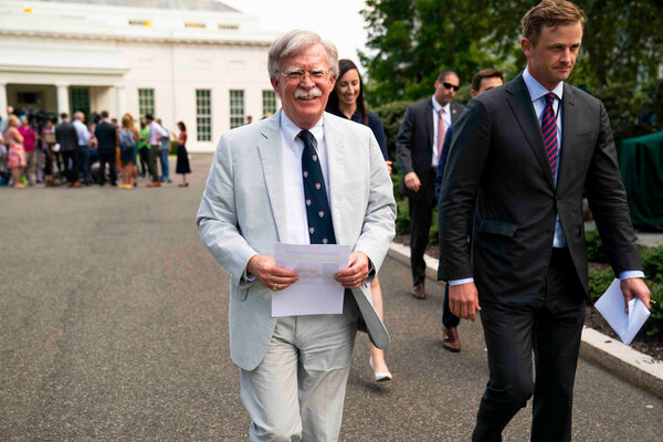 Security: President Trump's former national security adviser John R. Bolton had agreed to let officials review any book before publication to ensure it contained no classified information.