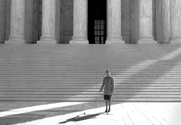 Justice Ruth Bader Ginsburg on her first day on the Supreme Court, in 1993.