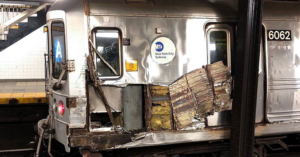Photo of Subway Car Derails After Object Thrown on Tracks, Police Say