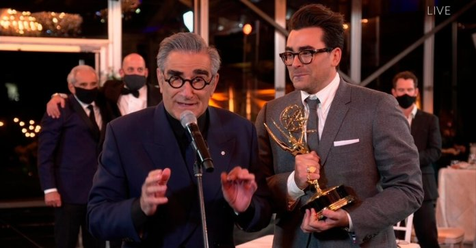 Canadians Rejoice as 'Schitt's Creek' Sweeps 2020 Emmy Awards