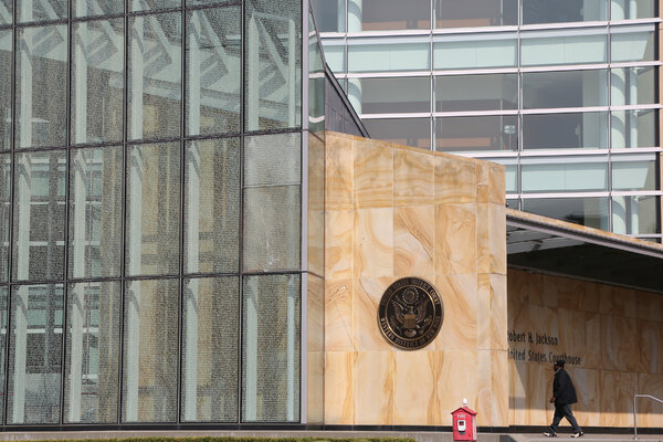 A woman suspected of trying to mail the lethal substance ricin to President Trump appeared at the federal courthouse in Buffalo on Tuesday.