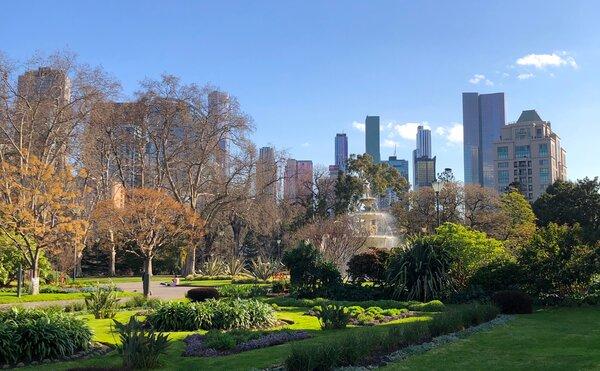 Springtime in Melbourne's Carlton Gardens