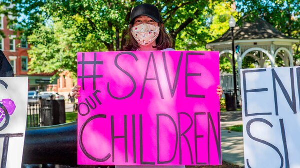 """A """"Save the Children Rally"""" in Keene, N.H."""
