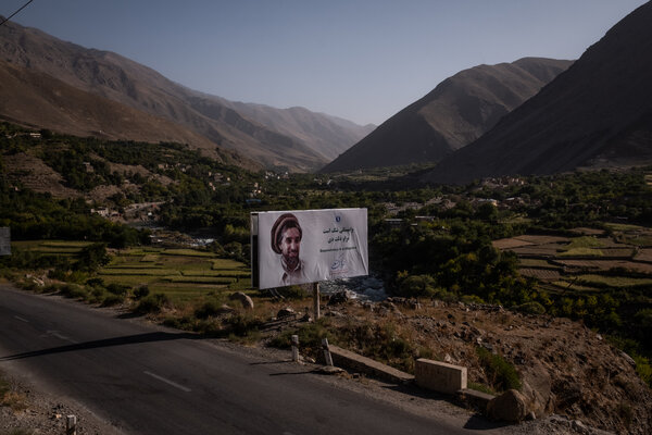 Ahmad Shah Massoud's image and words can be seen all around Panjshir, and in many other places in Afghanistan.