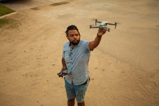 Steven Ray Littles II left his job as a Delta Air Lines flight attendant and plans to pursue a hobby in drone photography as a business.