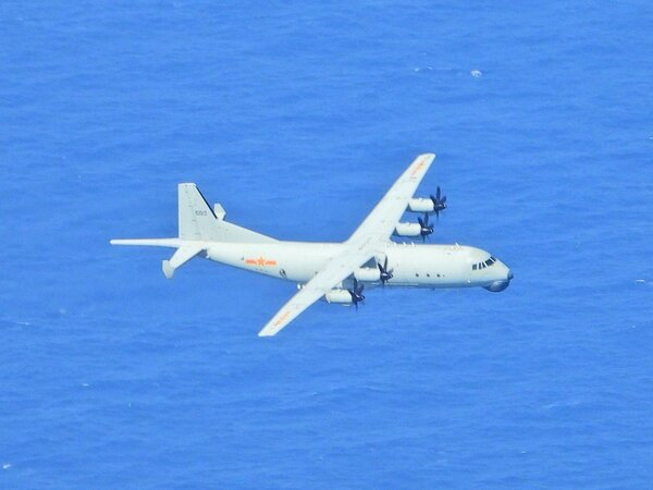 Taiwan's Ministry of Defense released this photo, which it said showed a Chinese military plane entering Taiwan's air defense identification zone in September.