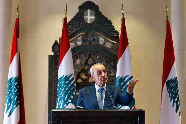 Nabih Berri, the speaker of Lebanon's Parliament, said that gas from the disputed area would help the country's ailing economy.