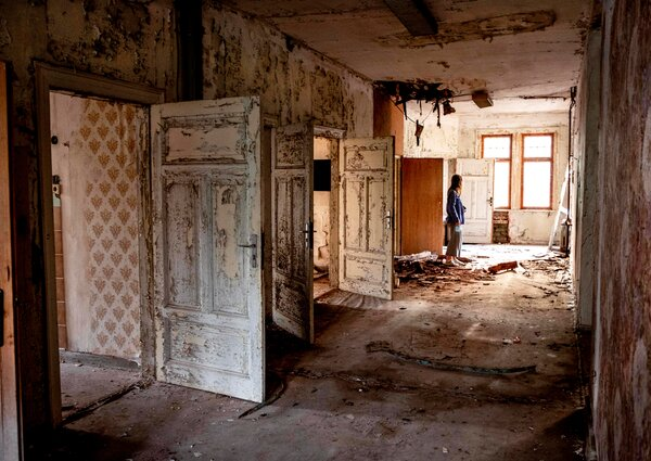 An abandoned villa near Eisenach, eastern Germany. While much of the region has been rebuilt, reminders of the old East Germany are scattered across the region.