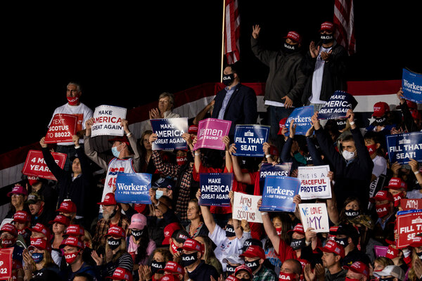 President Donald Trump supporters at a Great American Comeback Event in Middletown, Pa., last month.
