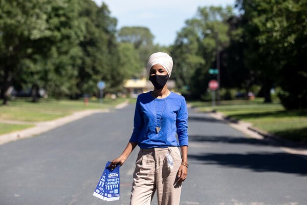 "Representative Ilhan Omar of Minnesota, whose father died after contracting the coronavirus, said President Trump's tweet minimizing it was ""an evil thing to say."""