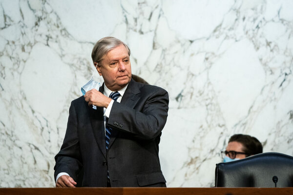 """This hearing, to me, is an opportunity to not punch through a glass ceiling, but a reinforced concrete barrier around conservative women,"" said Senator Lindsey Graham."