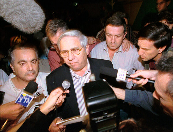 """""""The government of Israel announces, with astonishment, great sadness and deep sorrow, the death of the prime minister and defense minister, Yitzhak Rabin,"""" Mr. Haber told reporters after Mr. Rabin's assassination on Nov. 4, 1995."""