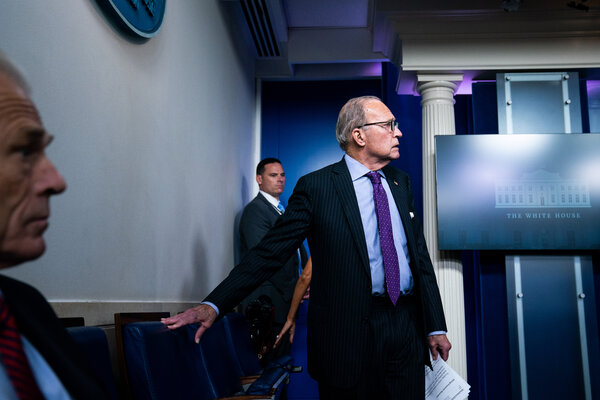 "Larry Kudlow, the director of the National Economic Council, boasted in February that the coronavirus was contained in the United States and that ""it's pretty close to airtight."" His private message was more ambiguous."