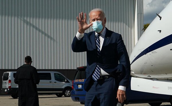 Joseph R. Biden Jr. campaigned on health care in Michigan on Friday.