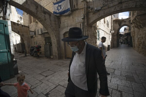 In the Old City of Jerusalem this week. Israel imposed a second national lockdown after infection and death rates soared to among the highest in the world.