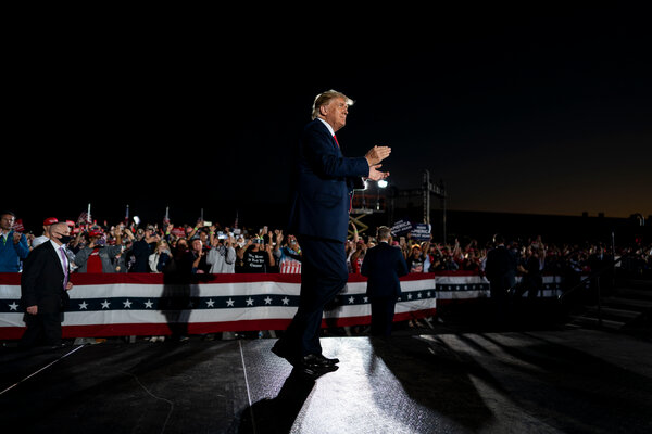 President Trump at a rally in Macon, Ga., on Friday.