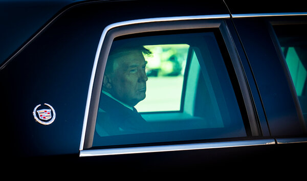 President Trump arriving to board Air Force One on Saturday.