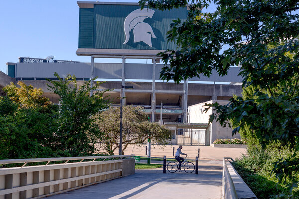 Ingham County, Mich., which includes Michigan State University, went from reporting about 300 new infections in August to about 1,800 in September.