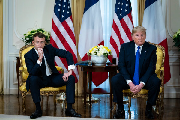 President Emmanuel Macron of France, left, during a meeting with President Trump in London last year.
