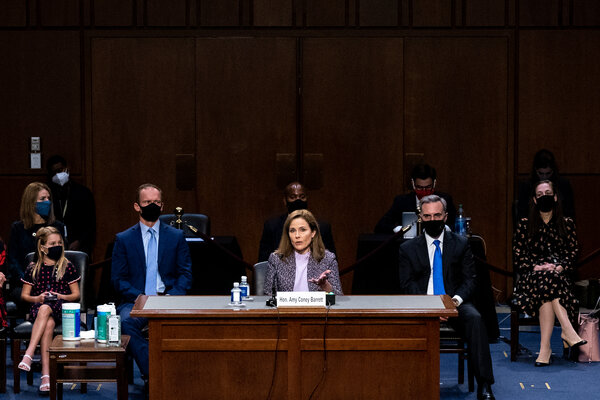 The Senate vote to confirm Judge Amy Coney Barrett to the Supreme Court is expected to begin around 7:30 p.m. on Monday evening.
