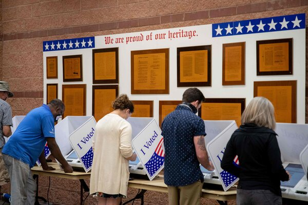 South Carolina voters cast ballots at the Charleston Coliseum and Convention Center earlier this month.