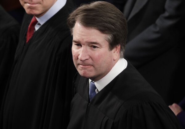 Justice Brett Kavanaugh's statement mirrored in some ways President Trump's efforts to suggest that only ballots counted by Election Day should decide the result, and more generally to push unfounded claims about widespread voter fraud.