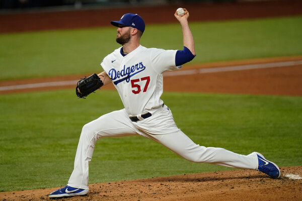 Alex Wood cruised through his first inning for Los Angeles.