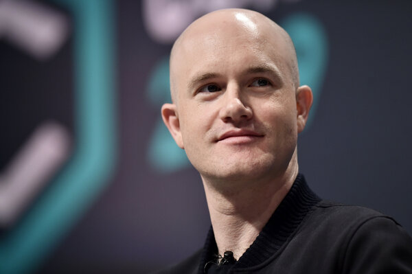 """Brian Armstrong, Coinbase's chief executive, said employees who disagreed with his """"no politics"""" stance could leave the company."""