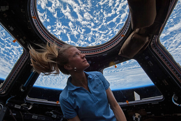 Karen Nyberg, a NASA astronaut took in the view from the space station's cupola in 2013.