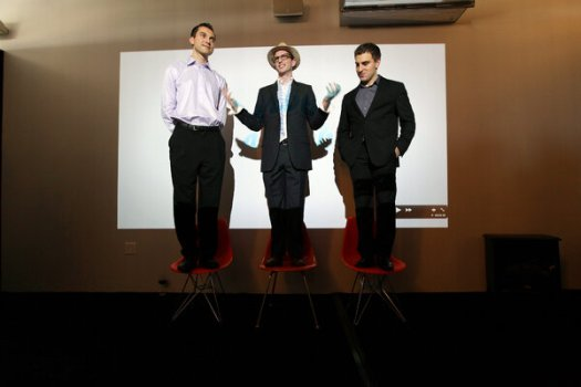 The Airbnb founders, from left, Nathan Blecharczyk, Joe Gebbia and Brian Chesky in 2011.