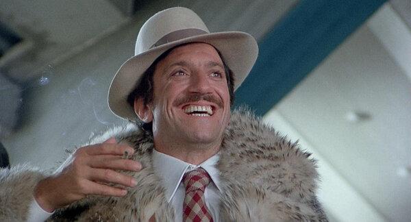 """Mr. Proietti as a race-track denizen in the 1976 movie """"Febbre da Cavallo"""" (""""Horse Fever""""). He was""""an extraordinary interpreter of the Roman spirit,"""" Rome's mayor said."""