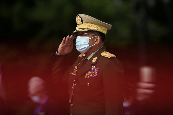 Senior Gen. Min Aung Hlaing, the army's commander in chief, in July.