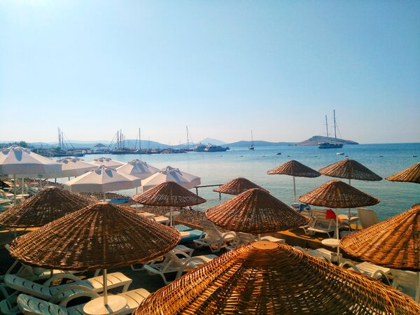 The resort town of Yalikavak, Turkey, is known for its marina and uncrowded beaches.