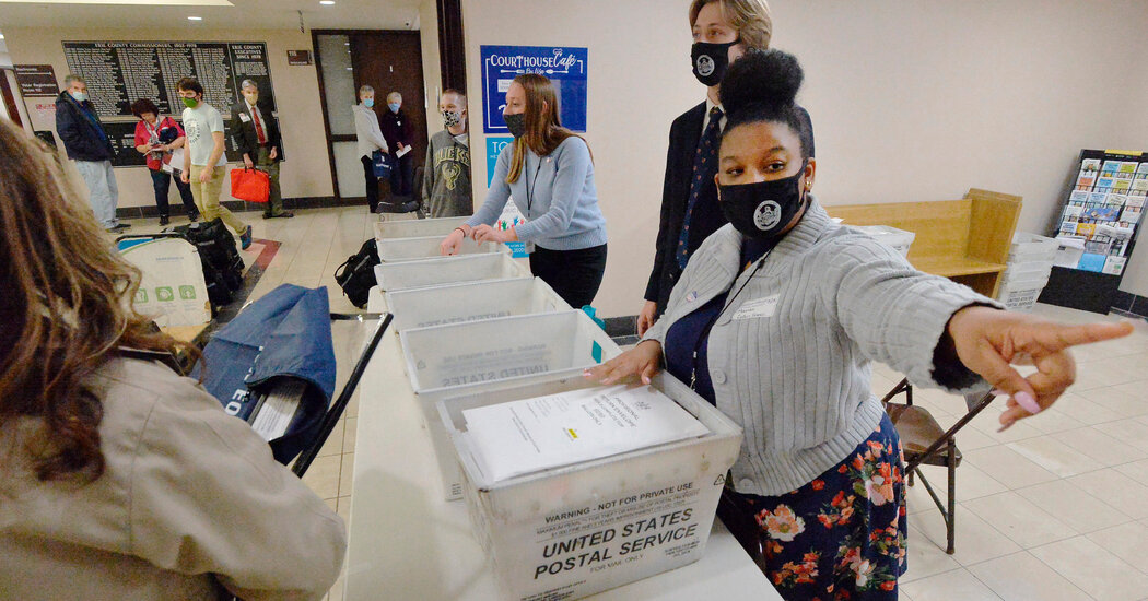 Postal worker withdraws claim that ballots were backdated in Pennsylvania, officials say.