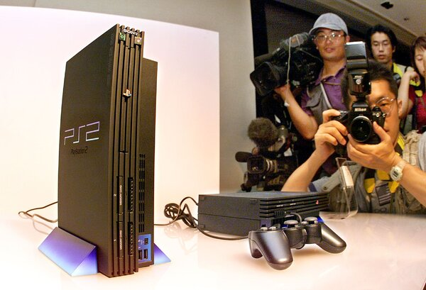 The unveiling of Sony's PlayStation 2 in 1999.