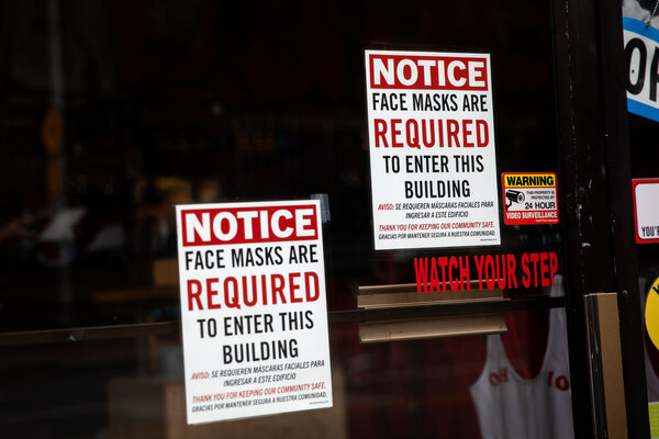 Wearing masks are now required at businesses in Ohio as new restrictions to prevent coronavirus infections go into effect.